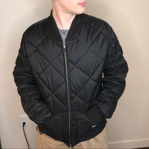 Dickies diamond quilted nylon jacket medium